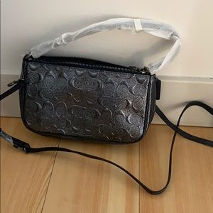 Coach purse. Silver navy. NEVER WORN